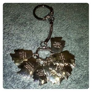 Christian Bible Keychain of 12 apostles